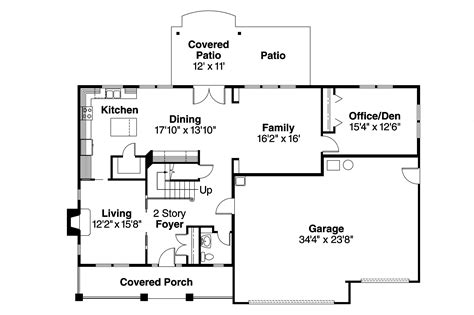 Home Layout Plans Bungalow House Plans Cavanaugh 30 490 Associated Designs
