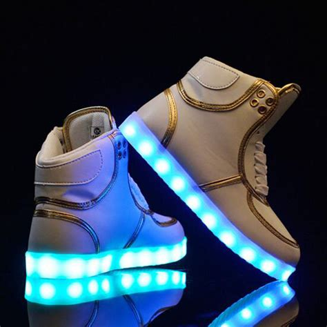 ebay light up shoes led shoes light up trainers sneakers unisex hi tops casual