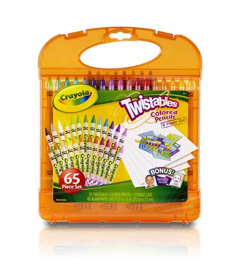 crayola twistables colored pencils crayola 174 twistable colored pencil kit jo