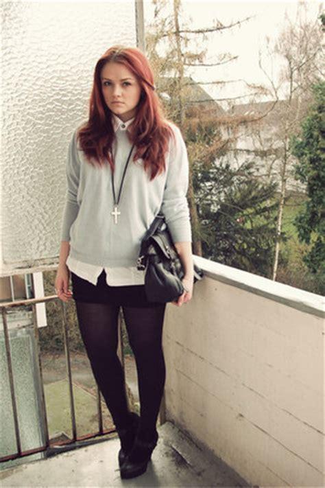 Sk Sweater Garis White periwinkle sweaters white h m shirts black tkmaxx bags black mango sks quot schoolin
