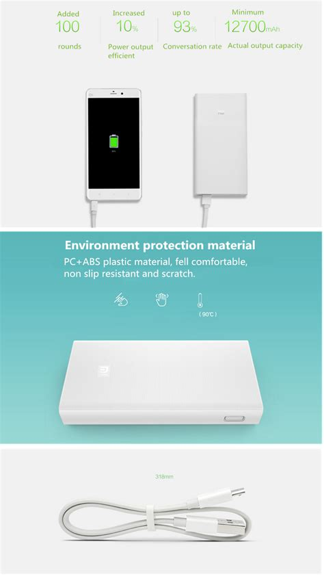 Powerbank Nippon 20000 Mah Sensor new xiaomi 20000mah portable dual usb 5 1v 3 6a power bank