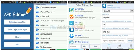 androad apk apk editor how to edit apk files on android