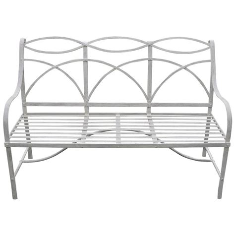 garden bench wrought iron garden bench with wrought iron elements for sale at 1stdibs