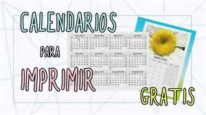 Calendarios Personalizados Para Imprimir Calendarios Para Imprimir Gratis Calendarios