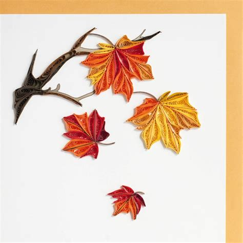 leaf pattern quilling autumn leaves quilling pinterest beautiful quilling
