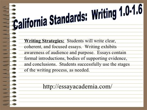 California Essay by The Five Paragraph Essay