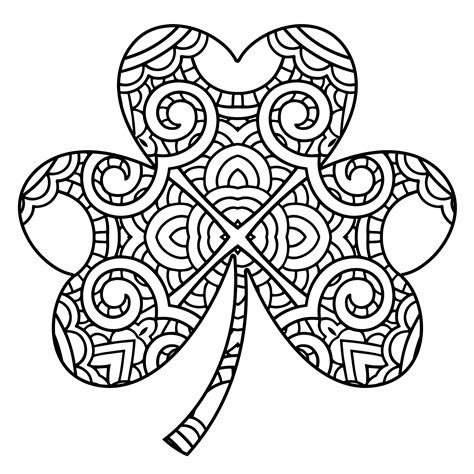 shamrock coloring pages free draw to color