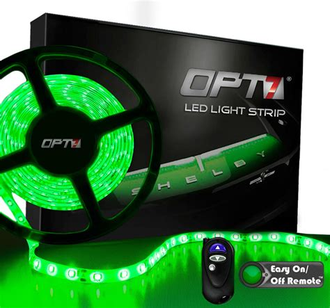 green led light strips opt7 16ft green led light strips w remote 300 smd bright waterproof 12v ebay