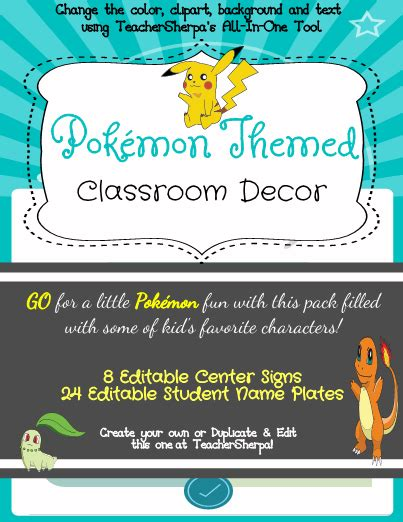 theme changer line pokemon go pok 233 mon for your classroom decor theme this year your
