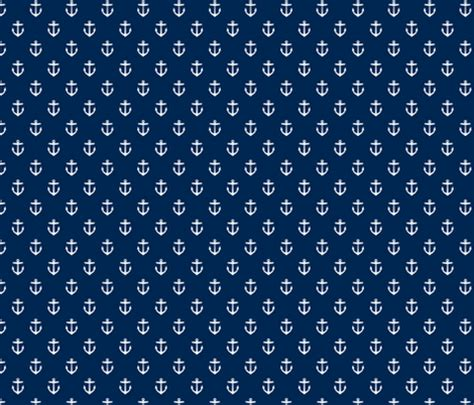 fabric pattern anchor navy blue anchors fabric sweetzoeshop spoonflower