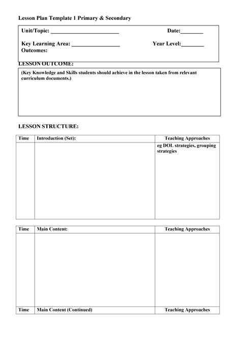 lesson plan templates common core preschool weekly
