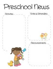 preschool newsletter template e commercewordpress