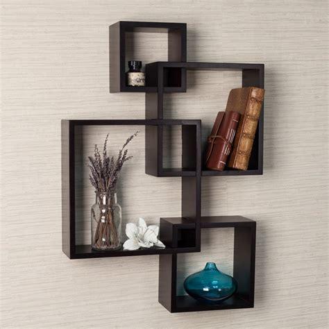 Intersecting Wall Shelf by Danya B Espresso Intersecting Cube Shelves Wall Shelves