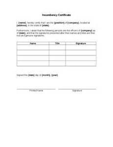 certificate of incumbency template certificate incumbency hashdoc