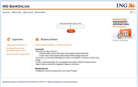 ing bank timing zmiana domeny bankowości internetowej ing bankonline