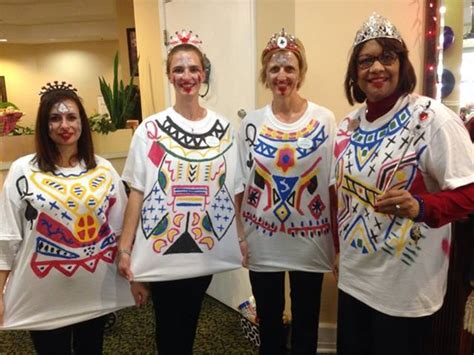 queens costume   cheap  easy group costume  group