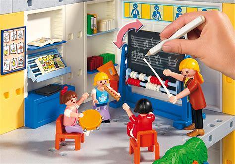 playmobil 5923 ecole avec 3 salles de classe achat vente univers miniature cdiscount