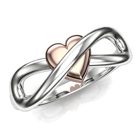 infinity symbol engagement ring with