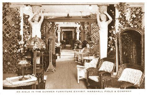 Marshall Fields Furniture by Postcard Chicago Marshall Field S Summer Furniture