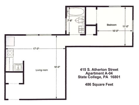 one bedroom apartments state college pa atherton house apartment a4 state college pa 16801