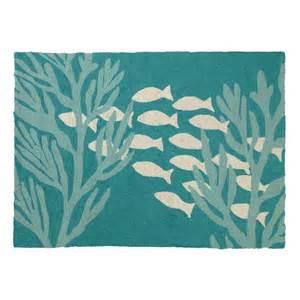 oceanic hooked turquoise area rug wayfair