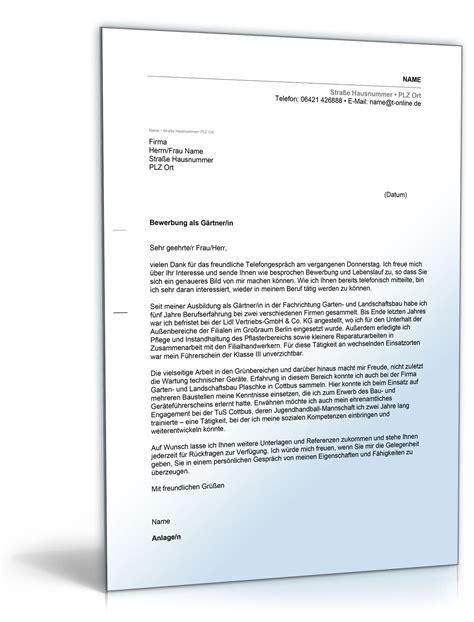 Bewerbung Ausbildung Garten Und Landschaftsbau Anschreiben by Anschreiben Bewerbung G 228 Rtner Bewerbungsschreiben 2018
