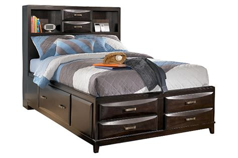 storage full bed kira full storage bed ashley furniture homestore
