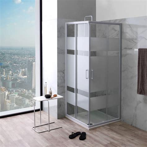 cabine doccia 70x70 box doccia serigrafato 70x70 profili alluminio bianco kv