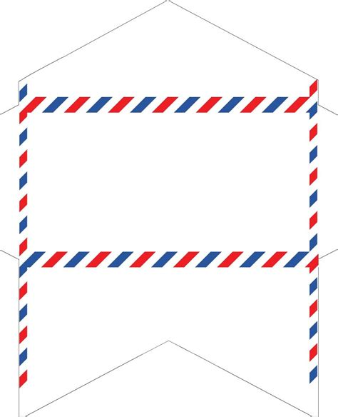 Template To Cut Letter Size Paper Into Business Cards by Fashioned Correspondence Airmail Envelopes Free