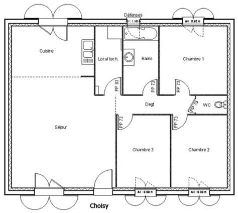 Plan Maison 80m2 Plein Pied 3840 by Plan Maison Plain Pied 80 M2