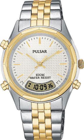 Seiko Pulsar Kinetic Two Tone pulsar by seiko pvr044 mens two tone analog digital