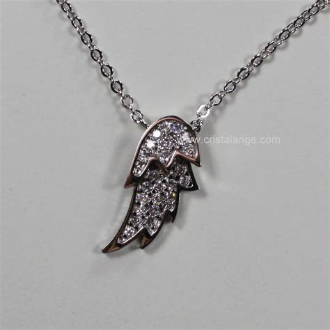 Rhinestone Wing Necklace rhinestone wing necklace guardian jewellery