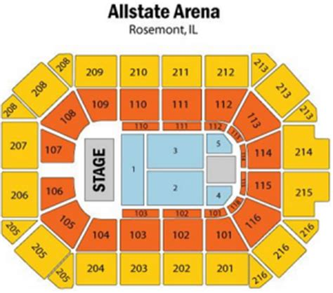 allstate arena floor plan allstate arena rosemont tickets schedule seating