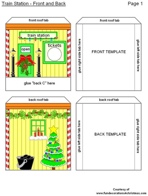 printable paper yardstick free printabe christmas 3 d crafts train station