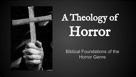 theology of the in one hour books notes from my workshop a theology of horror