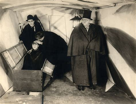 Cabinet Of Caligari by The Cabinet Of Dr Caligari 1920 A View To A Queue