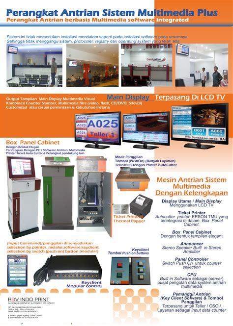 Mesin Antrian Nasabah Cv Rdv Indo Print Mesin Antrian Rs Bank Samsat Pabrik Service Center Dll