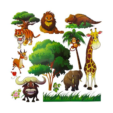 animal wall stickers for bedrooms animal wall decals for kids room decor dekosh