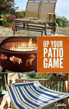 bring the great outdoors to you with cabela s home cabin outdoor spaces on pinterest fire pits fire pit table