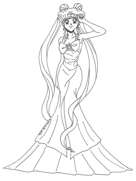 Princess Serenity Sailor Moon Pages Coloring Pages Sailor Moon Princess Serenity Coloring Pages Free Coloring Sheets