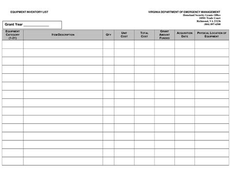 nice home and household inventory checklist and worksheet template