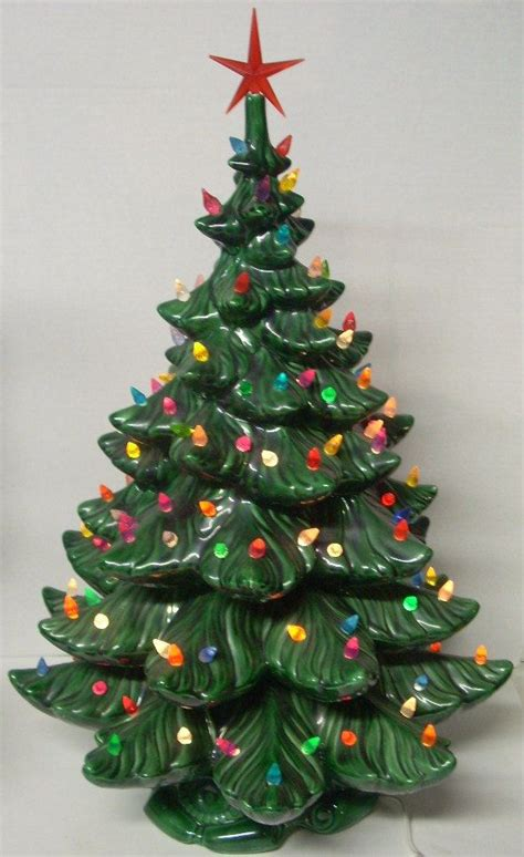 celebrations antique christmas lights vintage ceramic lighted tree 24 inch holidays vintage
