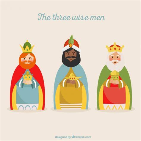 imagenes de los reyes magos en caricatura ilustraci 243 n de los tres reyes magos descargar vectores