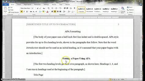 section headings apa apa headings and subheadings youtube