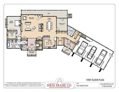 Timber Frame Home Floor Plans | prefab mountain home plans forest view davis frame co