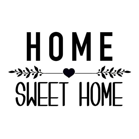Sticker Sweet Home Aufkleber by Sticker Quot Home Sweet Home Quot Black White Pinterest