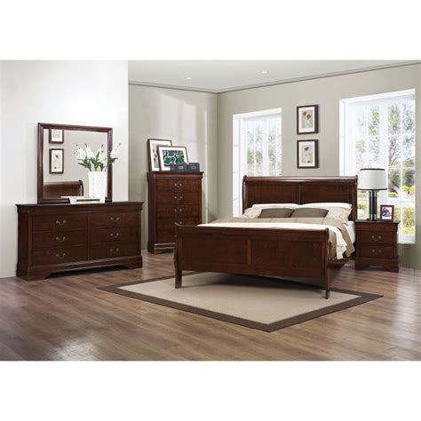 brown bedroom set mayville brown cherry 6 piece queen bedroom set
