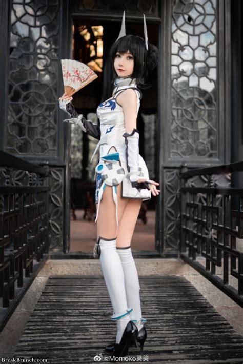 sexy cosplay  qipao  momoko  pics breakbrunch