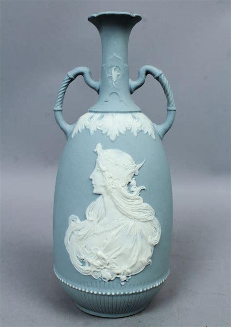 German Vases Antique by Antique C1900 German Nouveau Bisque Porcelain