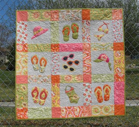 Wall Hanging Patterns Quilting summer quilt or wall hanging by 2strings craftsy